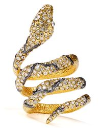Alexis Bittar | Metallic Crystal Encrusted Snake Ring | Lyst