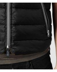 AllSaints - Black Frayne Gilet for Men - Lyst