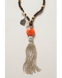 Anthropologie | Brown Deer Stone Necklace | Lyst