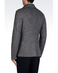 Armani - Gray Doublebreasted Coat for Men - Lyst