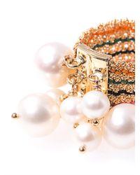 Carolina Bucci - Metallic Pearl and Yellow Gold Woven Ring - Lyst