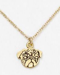 Dogeared - Metallic Pug Pendant Necklace 18 - Lyst
