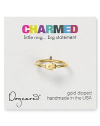 Dogeared - Metallic Small Hamsa Ring - Lyst