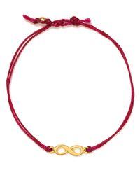 Dogeared Red Infinity Linen Bracelet