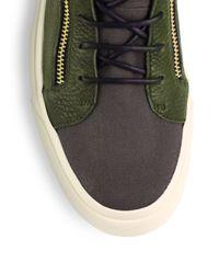 Giuseppe Zanotti Green Eagle Hightop Sneakers for men