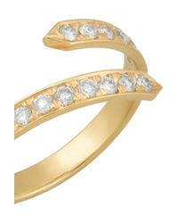 Halleh - Metallic Pinky Twist 18-Karat Gold Diamond Ring - Lyst