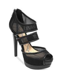 Jessica Simpson | Black Platform Sandals | Lyst