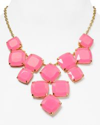 kate spade new york | Pink Shaken Stirred Statement Necklace 14 | Lyst
