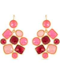 kate spade new york | Pink 12ct Goldplated Chandelier Earrings | Lyst