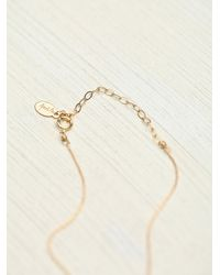 Free People - Metallic Vv Stone Bracelet - Lyst