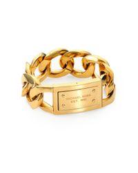 Michael Kors | Metallic Large Curb Chain Logo Braceletgoldtone | Lyst