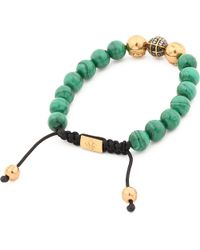Nialaya | Green Diamond Beaded Bracelet for Men | Lyst