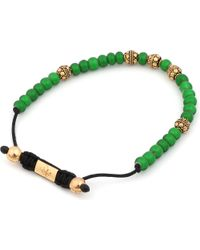 Nialaya - Green Multibeaded Bracelet for Men - Lyst