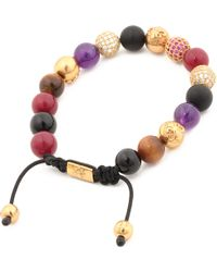 Nialaya | Multicolor Multi Crystal Beaded Bracelet for Men | Lyst