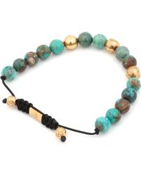 Nialaya | Blue Turquoise and Gold Bracelet for Men | Lyst