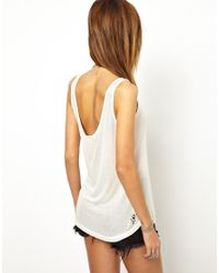 ASOS White One Teaspoon Lace Up Tank Top