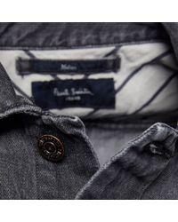 Paul Smith Gray Mens Western Midwash Denim Jacket for men