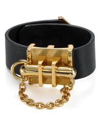 Rachel Zoe - Black Leather Signature Bracelet - Lyst