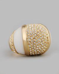 Rachel Zoe Metallic Domed Crystal Ring
