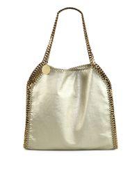 Stella McCartney | Falabella Chaintrimmed Metallic Shoulder Bag | Lyst