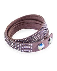 Swarovski | Pink Slake Wrap Bracelet | Lyst