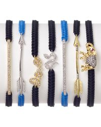 Tai - Black Elephant Cord Bracelet - Lyst