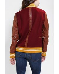 Urban Outfitters - Red Scott By Scott Varsity Jacket - Lyst