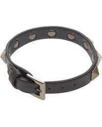 Valentino | Black Rockstud Bracelet | Lyst
