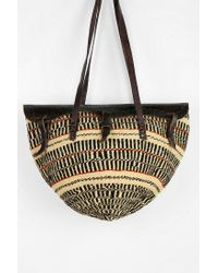 Urban Outfitters Multicolor Urban Renewal Vintage Straw Market Bag