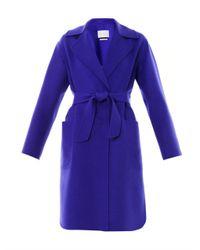 Max Mara | Blue Feltre Coat for Men | Lyst