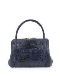 Nancy Gonzalez Black Linda Medium Crocodile Tote Bag