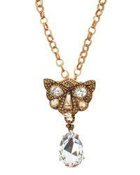 Oscar de la Renta | Metallic Crystal Panther Broochpendant Necklace | Lyst