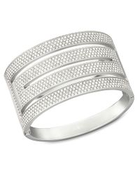 Swarovski | Metallic Stone Wide Bangle | Lyst