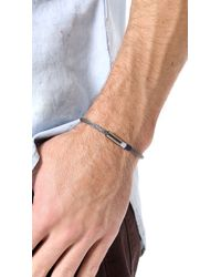Yuvi Gray Silver Mesh Bracelet with Two Tone Cord for men