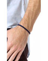 Yuvi - Blue Japanese Cord Bracelet for Men - Lyst