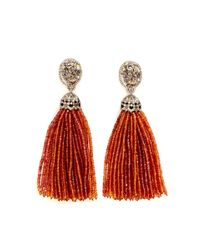 Bochic | Oneofakind Orange Sapphire Tassel Earrings | Lyst