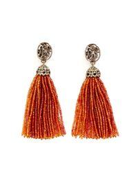 Bochic - Oneofakind Orange Sapphire Tassel Earrings - Lyst