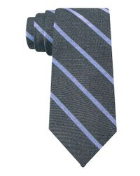 DKNY | Blue Slim Fit Jrt Silk Stripe Tie for Men | Lyst