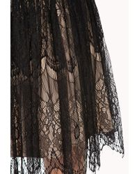 Forever 21 Black Romanticatheart Lace Dress
