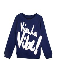 House of Holland Blue Viva La Vibe Sweatshirt