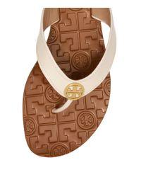 Tory Burch White Patent Thora 2 Sandal