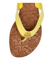 Tory Burch Yellow Patent Thora 2 Sandal