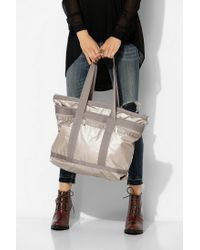 Urban Outfitters Metallic Lesportsac Travel Tote Bag
