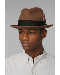 Urban Outfitters Brown Brixton Gain Fedora for men