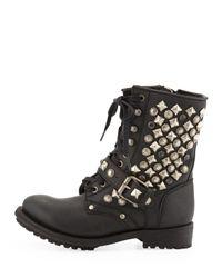 Ash - Ryanna Studded Boot Black - Lyst
