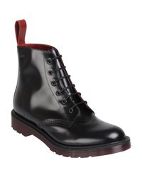 Dr. Martens | Black Mens Made in England Pietro Leather Low Boots for Men | Lyst