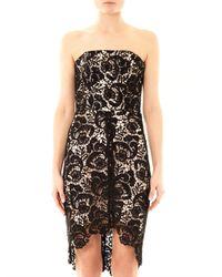 Lover | Black Courtney Strapless Lace Dress | Lyst
