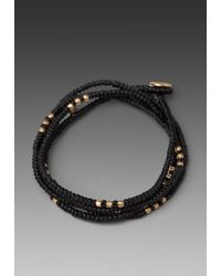 M. Cohen | 4 Layer Wrap Bracelet in Black for Men | Lyst