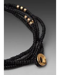 M. Cohen - 4 Layer Wrap Bracelet in Black for Men - Lyst