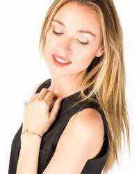 Sarah Chloe | Metallic Adjustable Love Bangle | Lyst